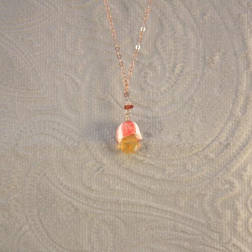 Clochette corail et opale de feu