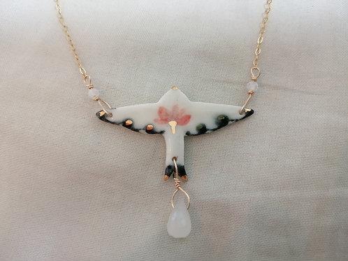 Collier oiseau lotus