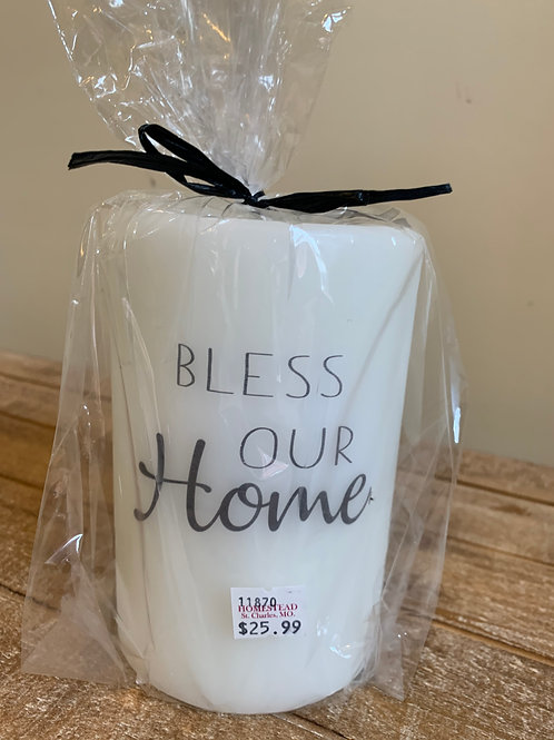 Candle Sleeve - Bless Our Home