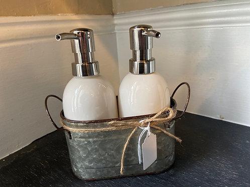 White Dispensers Set