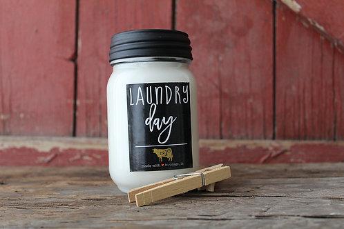 Farmhouse Jar 13oz. - Laundry Day