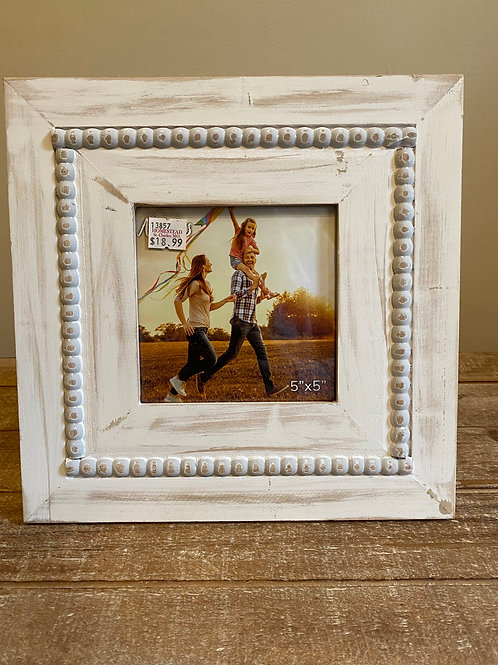 "Beaded Picture Frame 5""x5"""