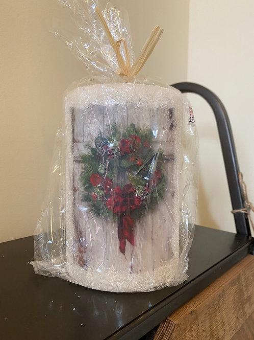 Christmas Wreath Candle Sleeve