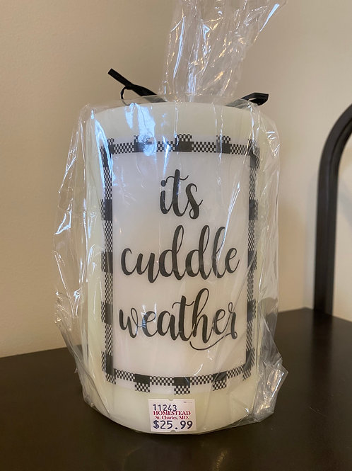 It's Cuddle Weather Candle Sleeve