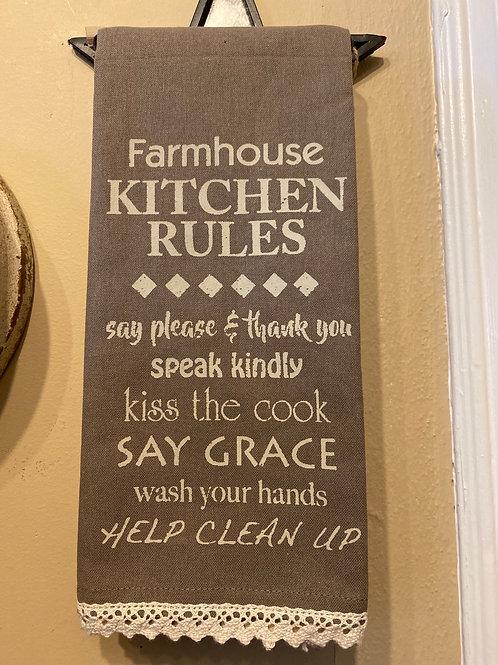 Kitchen Rules Dish Towel
