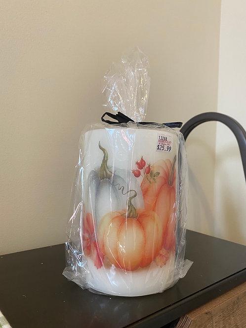 Autumn Harvest Pumpkin Candle Sleeve