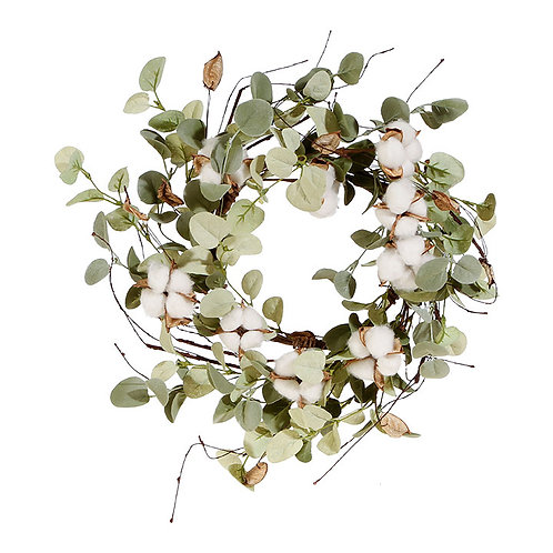 "Cotton & Eucalyptus Candle Ring - 15"""