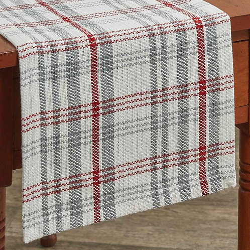 "Farm Yard 54"" Table Runner-Red, Grey&White"
