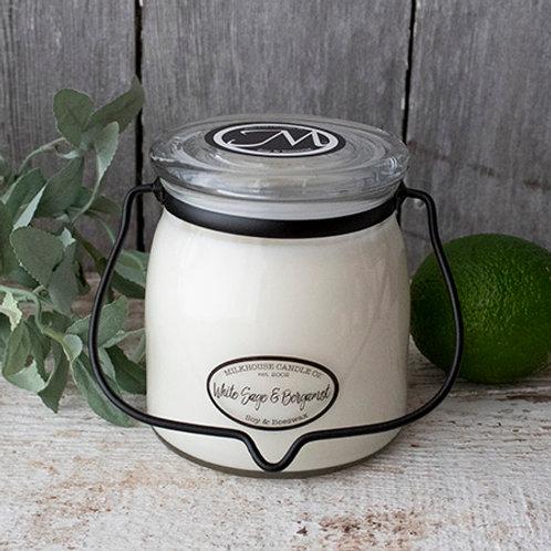 Milkhouse 16oz. Butter Jar - White Sage & Bergamon