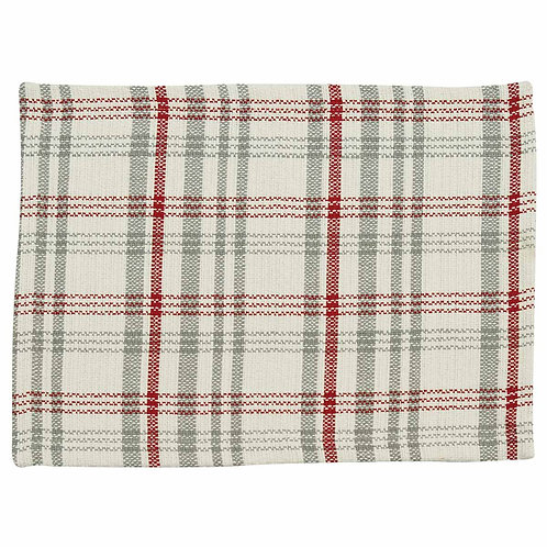 Farm Yard Placemat-Red, Gray &White