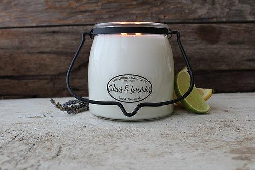 Milkhouse 16oz. Butter Jar - Citrus & Lavendar