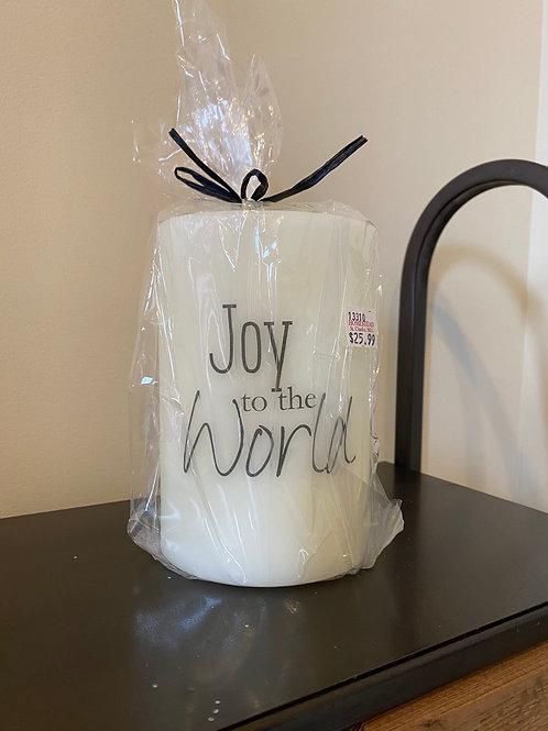 Joy to the World Candle Sleeve