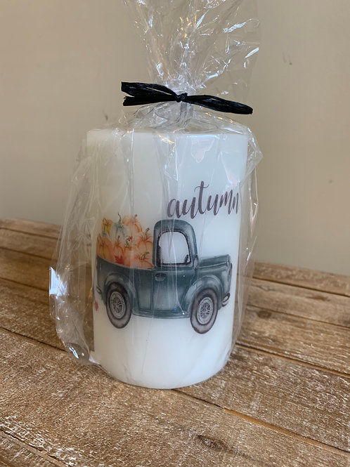 Candle Sleeve - Autumn Truck