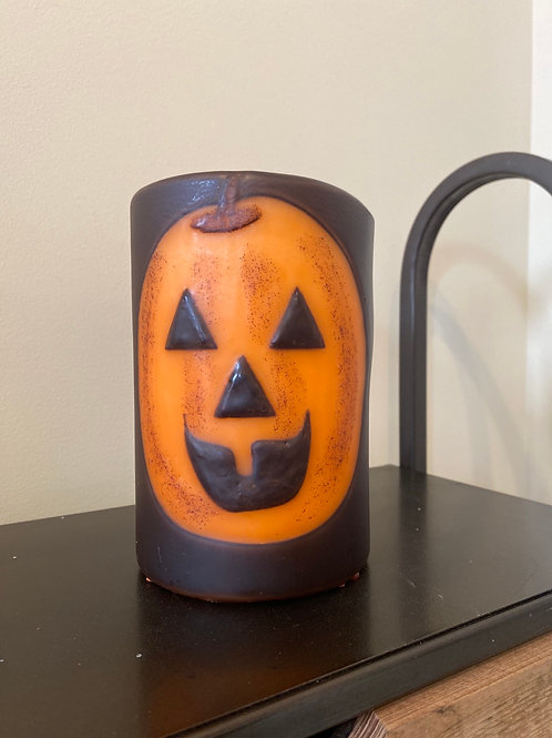 Scary Larry Pumpkin Candle Sleeve
