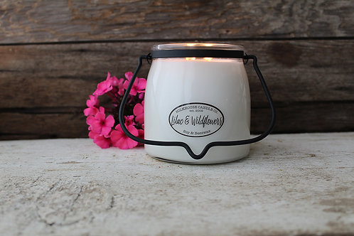 Milkhouse 16oz. Butter Jar - Lilac & Wildflowers