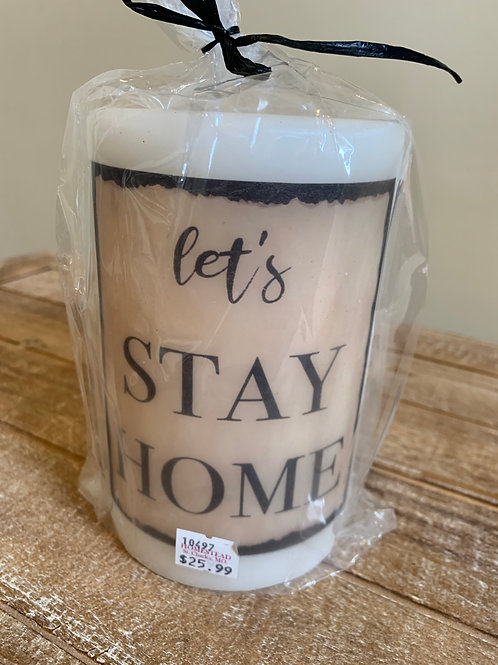 Candle Sleeve - Let's Stay Home