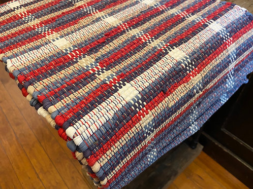 "72"" Red White and Blue Table Runner"