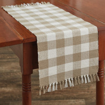 "Wicklow Table Runner - 36"" - Natural"