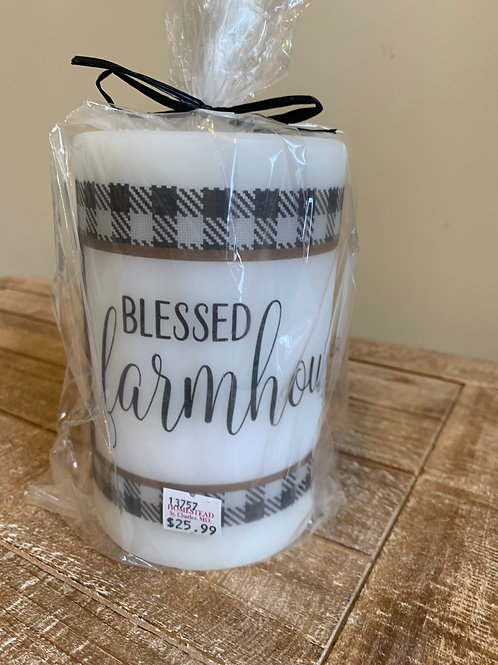 Candle Sleeve - Blessed Farmhouse