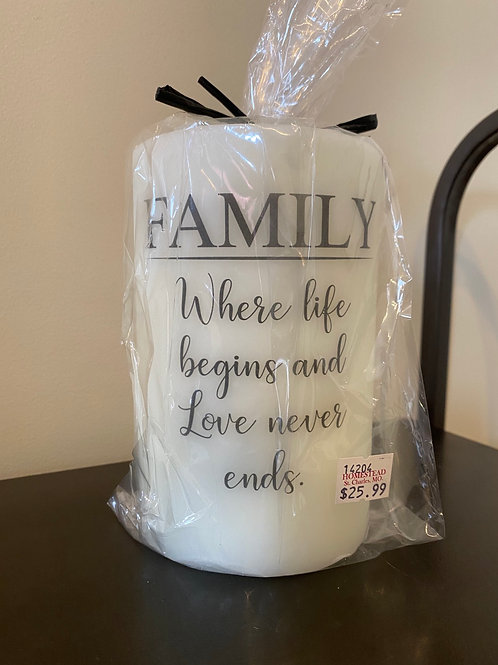 Family Life Begins Candle Sleeve