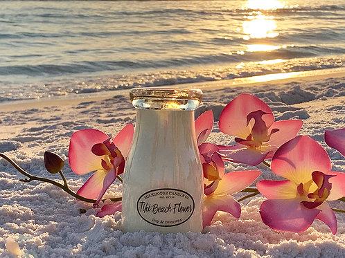 Milkhouse 7oz. Milk Bottle - Tiki Beach Flower