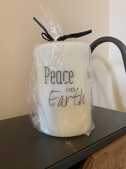 Peace on Earth Candle Sleeve