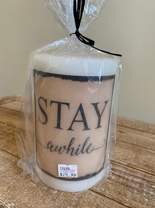 Candle Sleeve - Stay Awhile