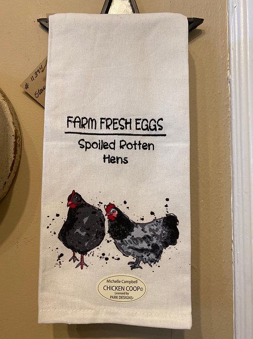 Hen Dish Towel
