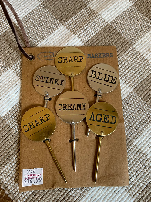 Metal Cheese Marker Set
