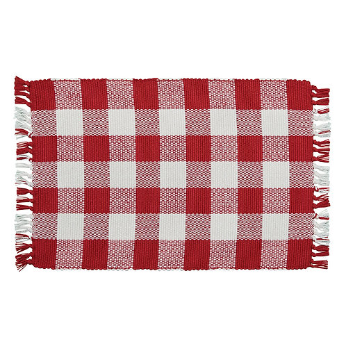 Wicklow Placemat - Red & White