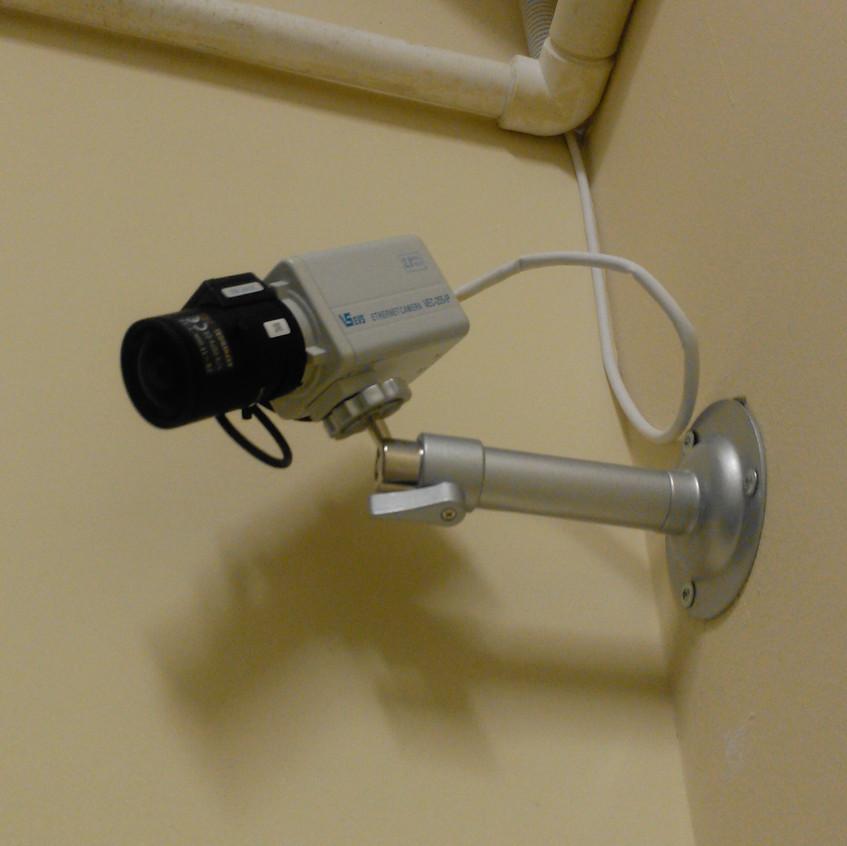Внутренняя камера с объективом