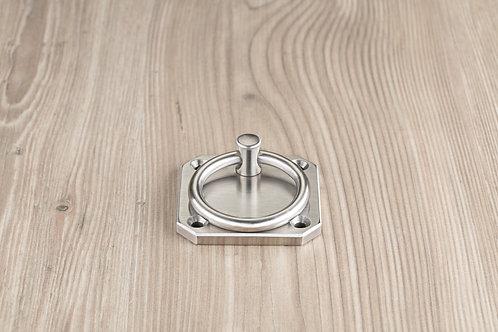 Wandplatte 80x80 mm mit Ring