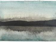 Kaaosteoriasta ja maisemantutkimuksesta, osa 23. 2020, 148 x 105 mm, tussi ja akvarelli bambupaperille