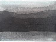 Kaaosteoriasta ja maisemantutkimuksesta, osa 5, 2020, 148 x 105 mm, tussi ja akvarelli bambupaperille