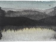 Kaaosteoriasta ja maisemantutkimuksesta, osa 7, 2020, 148 x 105 mm, tussi ja akvarelli bambupaperille