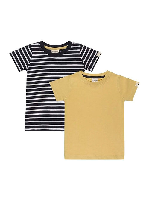 2Pk Layering T- Stripe/Sunshine