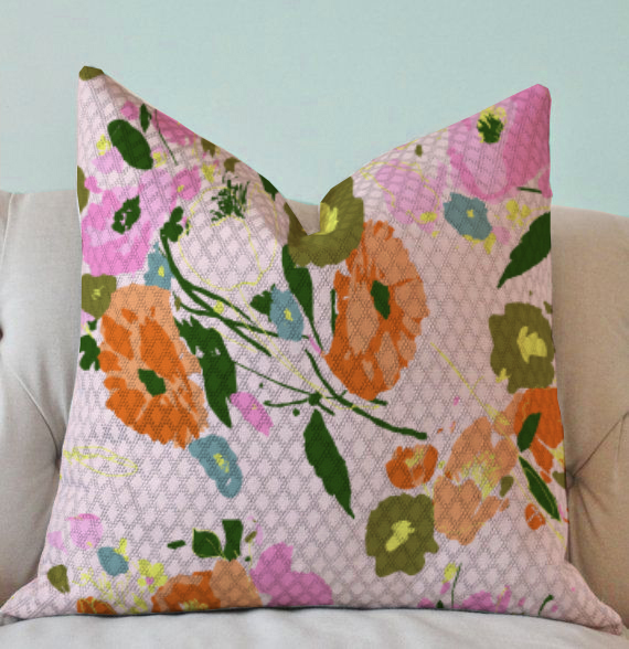 le jardin pillow on chair