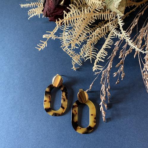 B.O Pendantes – couleur léopard – doré