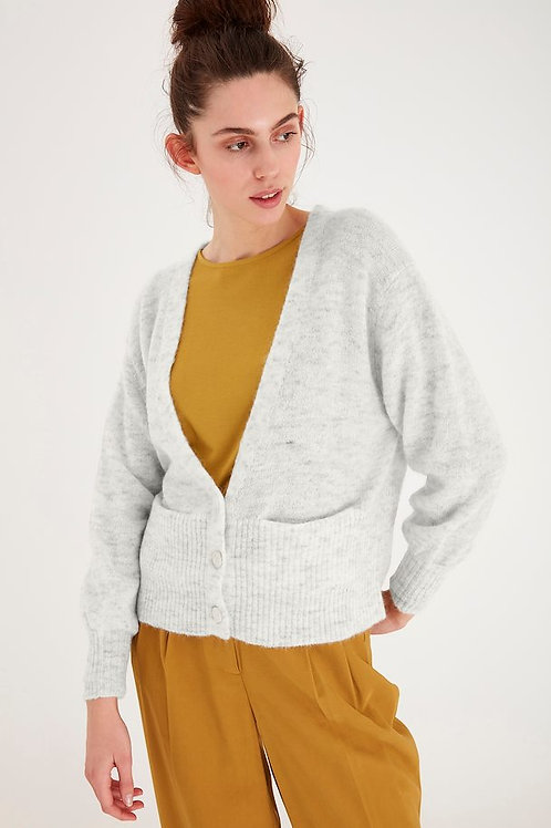 KNITTED CARDIGAN GREY LIGHT