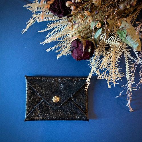 Porte-cartes mini origami black