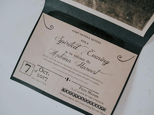 Autumn Harvest Invite Printable