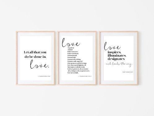 LOVE IS... | Trio Quote Wall Art Bundle