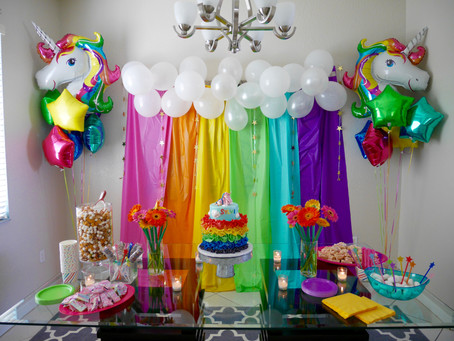 Sylvi's [ D I Y ] Rainbow & Unicorn Party