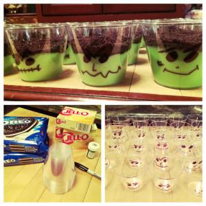 DIY FRANKENSTEIN [Pudding Cups]