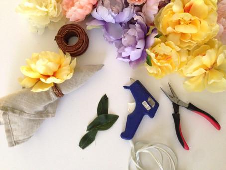 DIY: SPRING NAPKIN RINGS