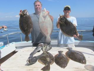 MONDAY FLUKE:  LIMITS & BIG FISH!