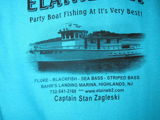 TUESDAY FLUKE----NEW EB II T-SHIRTS AVAILABLE ON THE BOAT!!