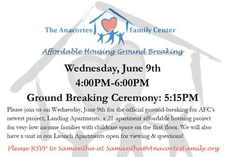 Ground Breaking Ceremony Wednesday, June 9th 4 - 6 PM!