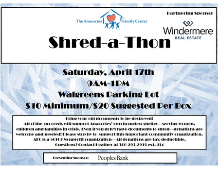 SAVE THE DATE: Shred-a-Thon April 17th!