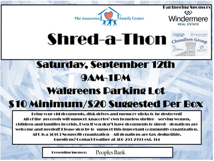 Save The Date: Shred-a-Thon September 12th!